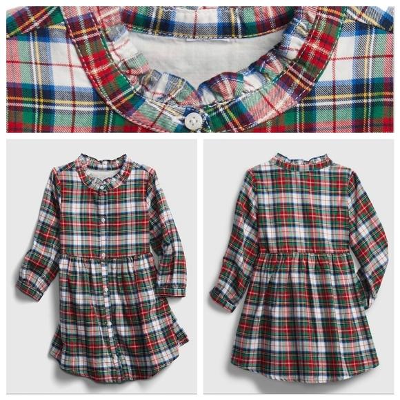 GAP Girl Toddler Plaid Dress 3YRS NWT